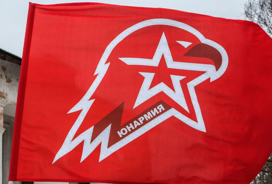 """<p>Знамя ВВПОД """"Юнармия"""" Фото: ©РИА Новости/Илья Тимин</p>"""