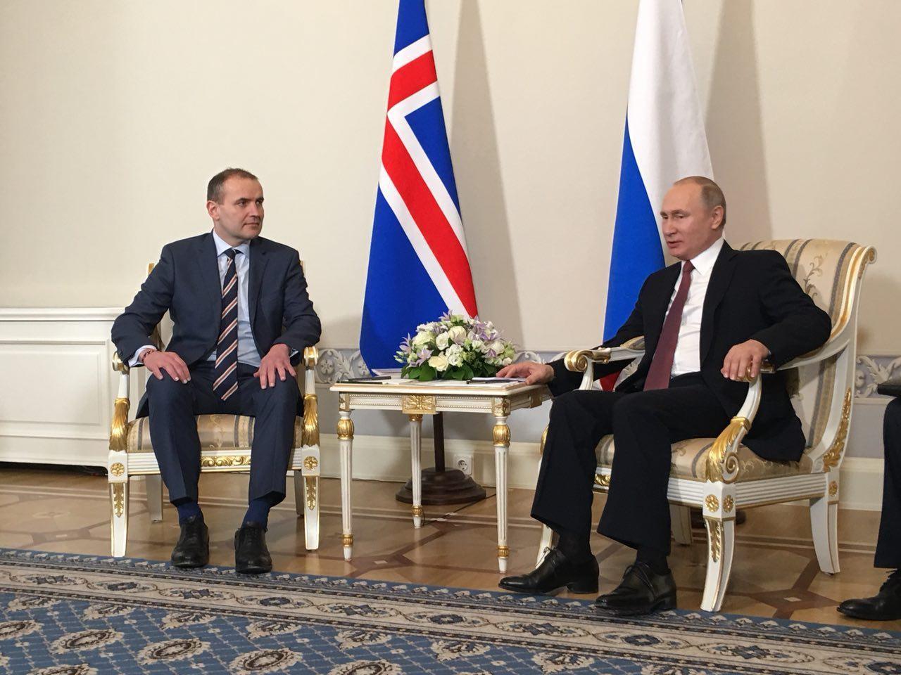 <p>Гудни Йоуханнессон, Владимир Путин. Фото: ©L!FE/Павел Баранов</p>
