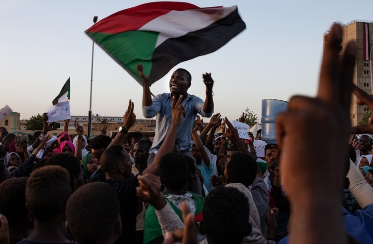 <p>Участники мирного митинга в Судане. Фото: ©РИА Новости/Салих Башир</p>