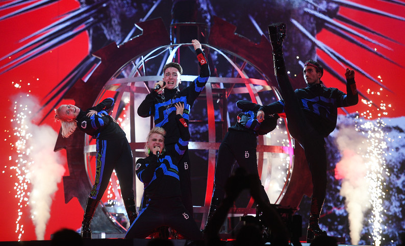 "<p>Группа Hatari (Исландия) на конкурсе Евровидение-2019. Фото: © РИА ""Новости"" / Владимир Астапкович</p>"