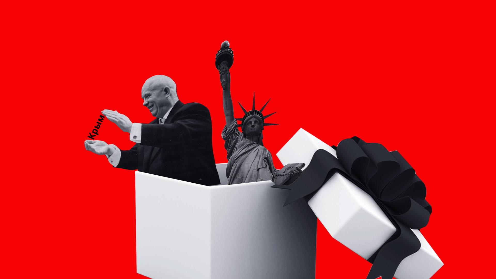"""<p>Коллаж © LIFE. Фото © Pixabay © Wikipedia / <a href=""""https://en.wikipedia.org/wiki/Nikita_Khrushchev#/media/File:Bundesarchiv_Bild_183-B0116-0010-043,_Berlin,_VI._SED-Parteitag,_2.Tag.jpg"""" target=""""_self"""">Bundesarchiv, Bild</a></p>"""