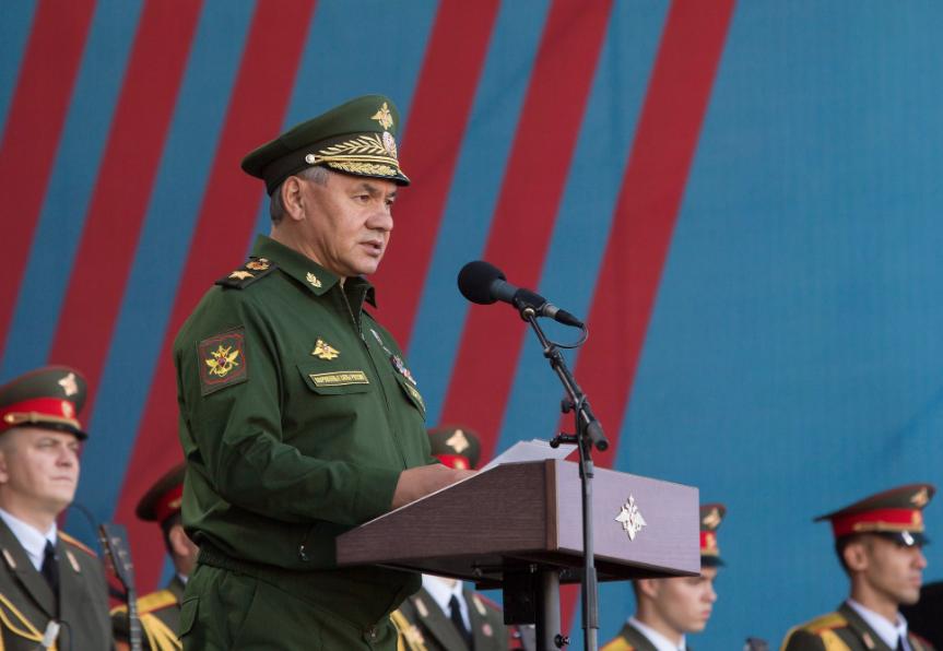 "<p>Сергей Шойгу. Фото © VK / <a href=""https://vk.com/photo-134310958_456239153"" target=""_self"">""Армия-2019""</a></p>"