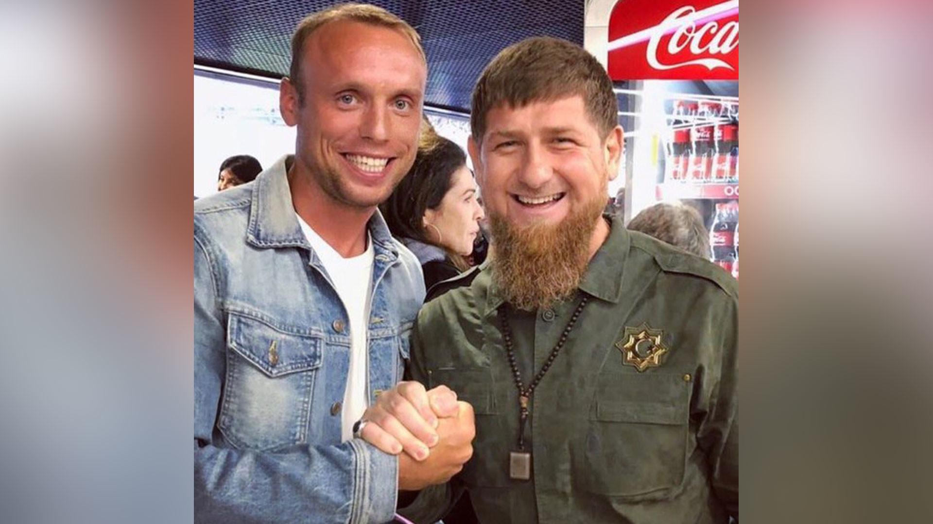 "<p>Денис Глушаков и Рамзан Кадыров. Фото © VK/<a href=""https://vk.com/akhmatgrozny?w=wall-83476010_13480"" target=""_self"">akhmatgrozny</a></p>"