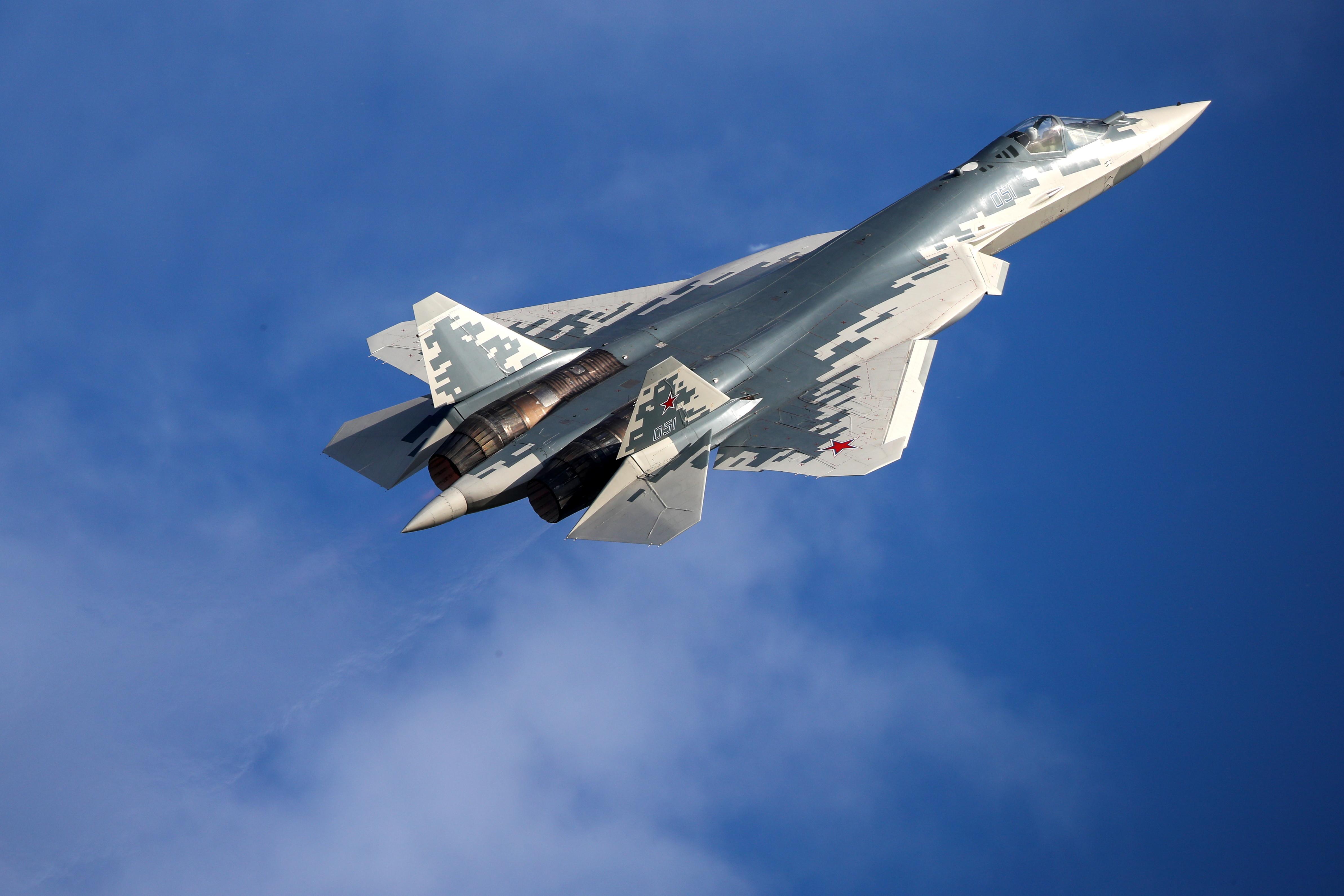 <p>Истребитель Су-57. Фото © ТАСС / Марина Лысцева</p>