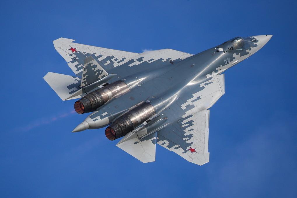 <p>Истребитель пятого поколения Су-57. Фото © ТАСС / Марина Лысцева</p>