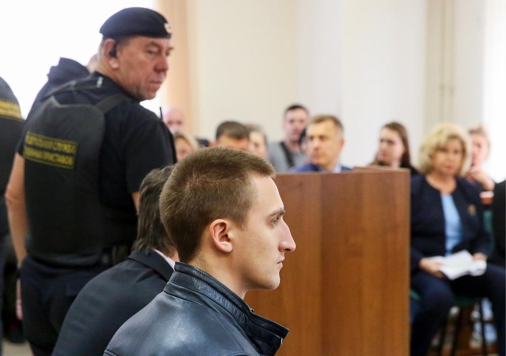 <p>Павел Устинов в суде. Фото © ТАСС / Владимир Гердо</p>