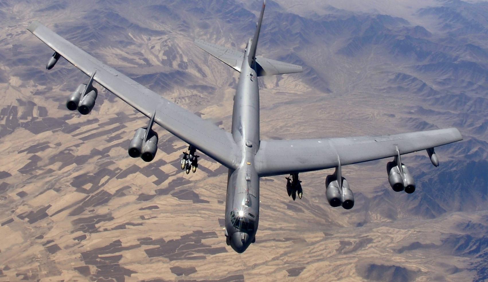 "<p>Фото © <a href=""https://ru.wikipedia.org/wiki/Boeing_B-52_Stratofortress#/media/Файл:B-52_over_Afghanistan.JPG"" target=""_self"">Wikipedia</a></p>"
