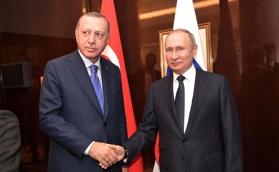 <p>Президент РФ Владимир Путин и президент Турции Реджеп Эрдоган. Фото © Kremlin</p>
