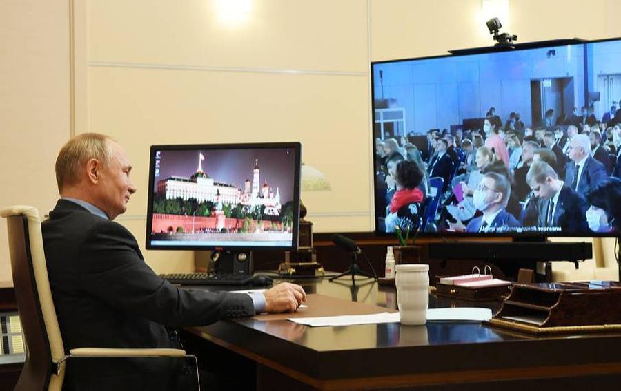 <p>Владимир Путин. Фото © Алексей Никольский / ТАСС</p>