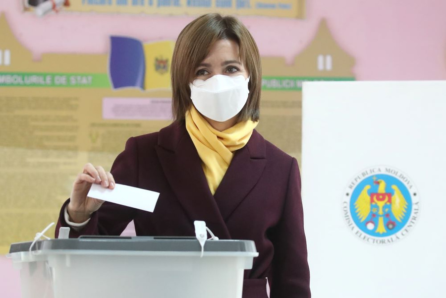 <p>Кандидат в президенты Молдавии Майя Санду. Фото © ТАСС / Валерий Шарифулин</p>
