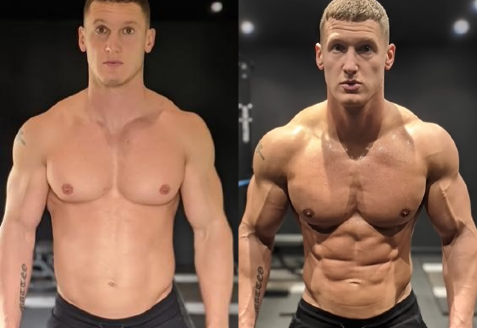 Бодибилдер показал, как сделать своё тело рельефным всего за 10 минут: фото до и после