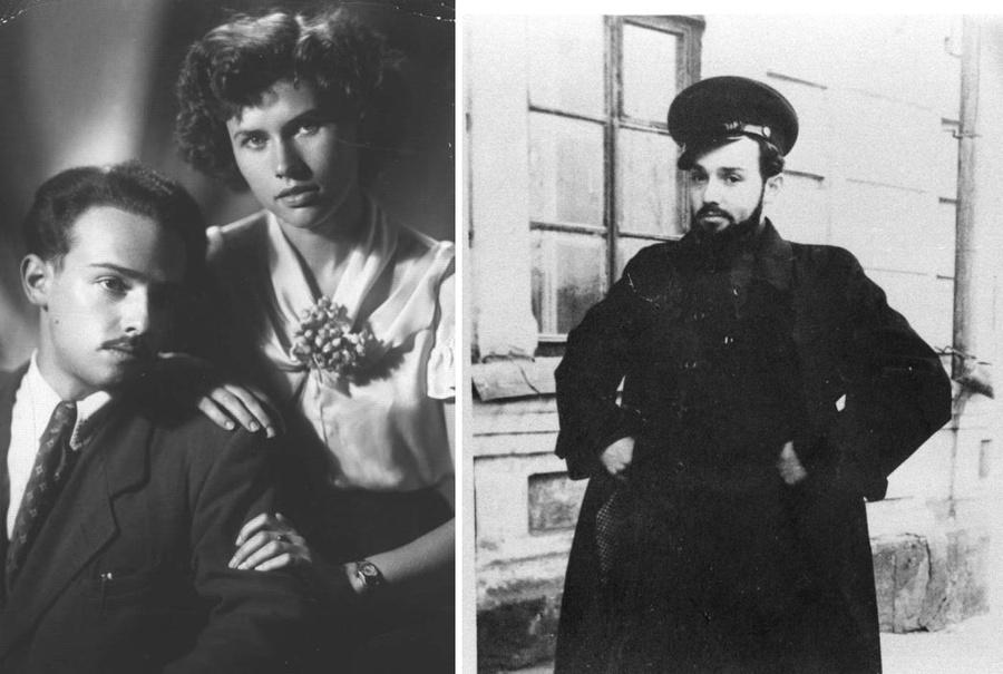 Александр Мень и Наталия Григоренко, 1950-е годы. / Александр Мень в молодости. Фото ©kulturologia.ru