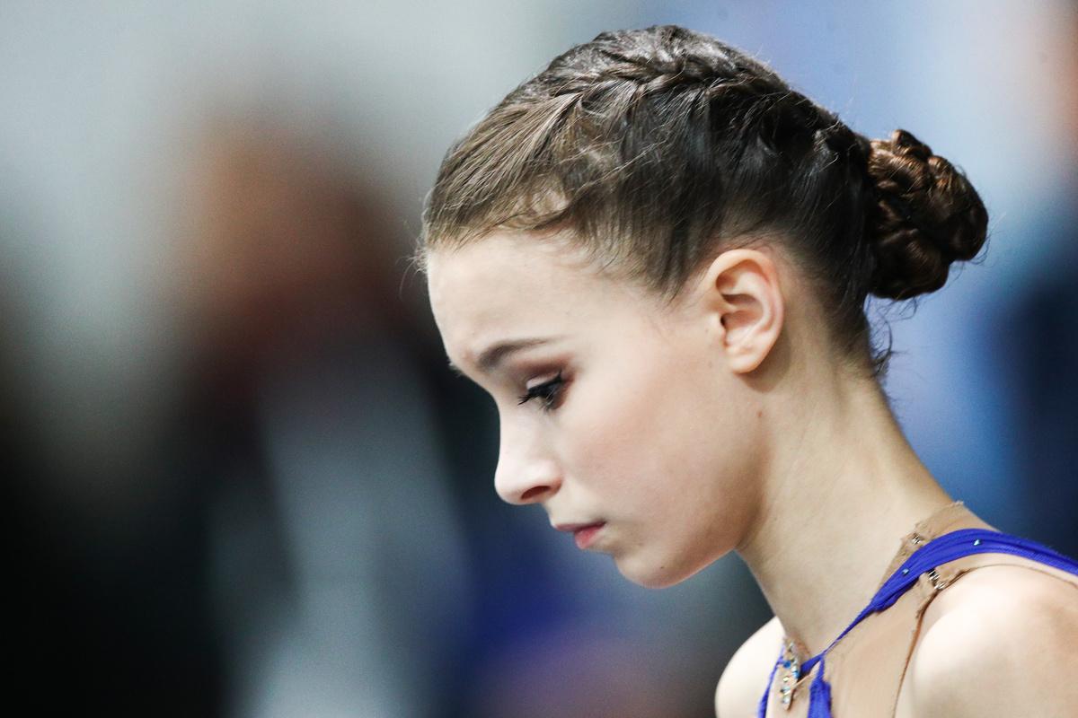 <p>Анна Щербакова на чемпионате Европы 2020 года. Фото © ТАСС / Сергей Бобылев</p>