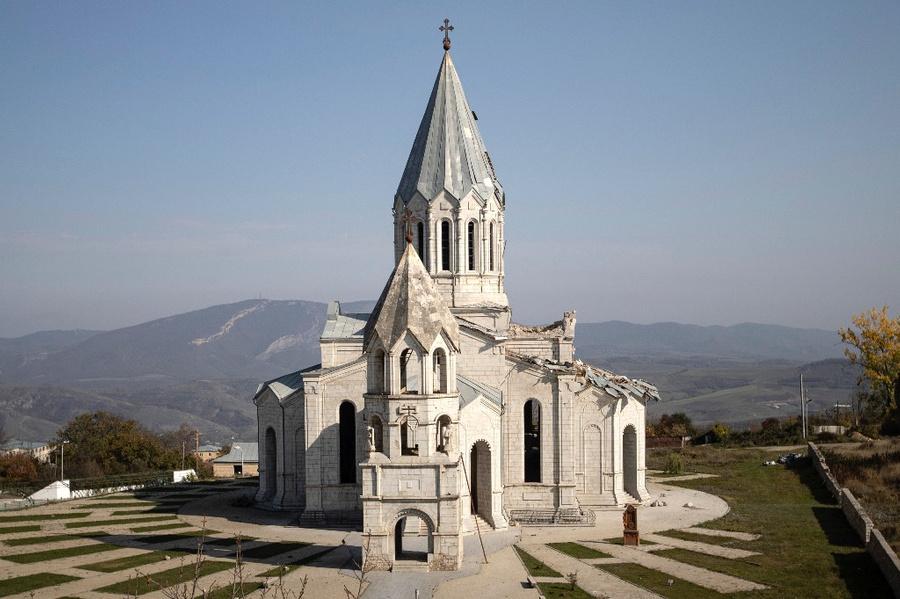 <p>Собор Святого Христа Всеспасителя Казанчецоц в Шуши. Фото © ТАСС / Станислав Красильников</p>