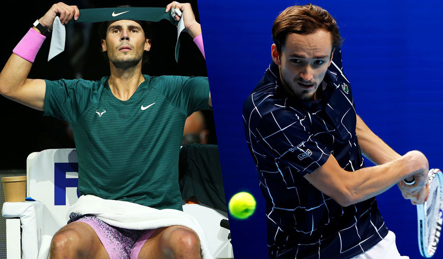 "<p>Рафаэль Надаль и Даниил Медведев. Фото © Twitter / <a href=""https://twitter.com/atptour/status/1330271769329070085"" target=""_blank"" rel=""noopener noreferrer"">ATP Tour</a></p>"