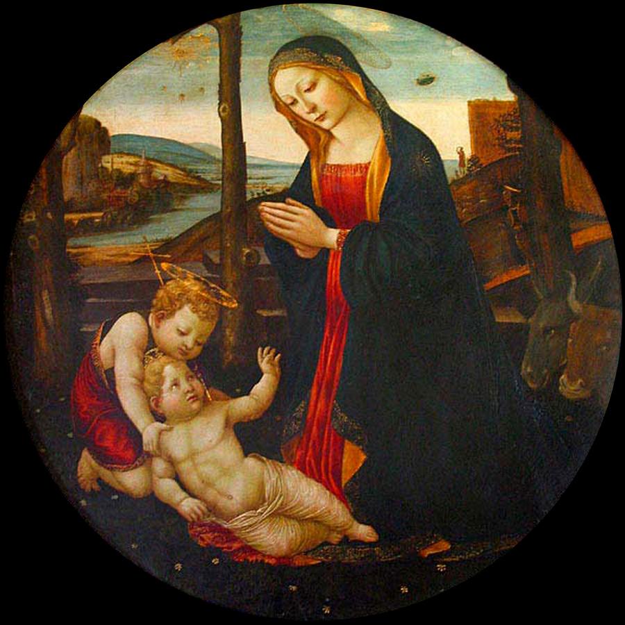 """""""Мадонна со святым Джованнино"""". Автор неизвестен. Фото © Public Domain"""