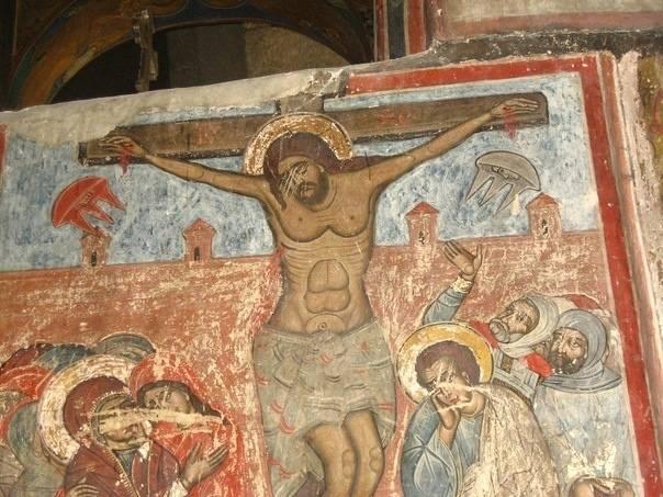 Фреска на стене собора Светицховели, Грузия. Фото © НЕЗНАМО КУДА