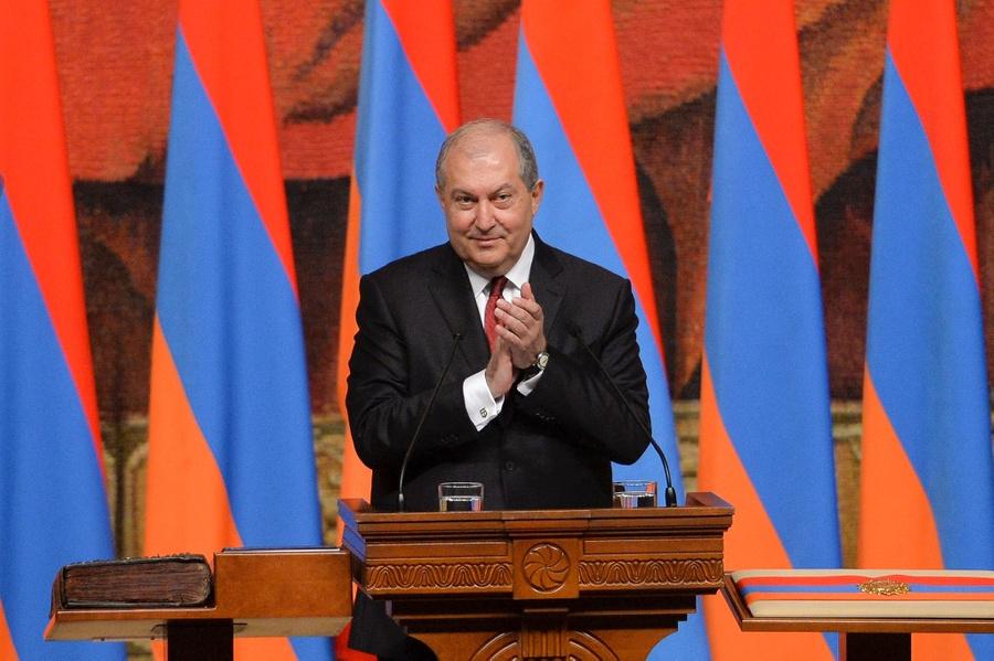 <p>Президент Армении Армен Саркисян. Фото © ТАСС / AP / Davit Hakobyan </p>