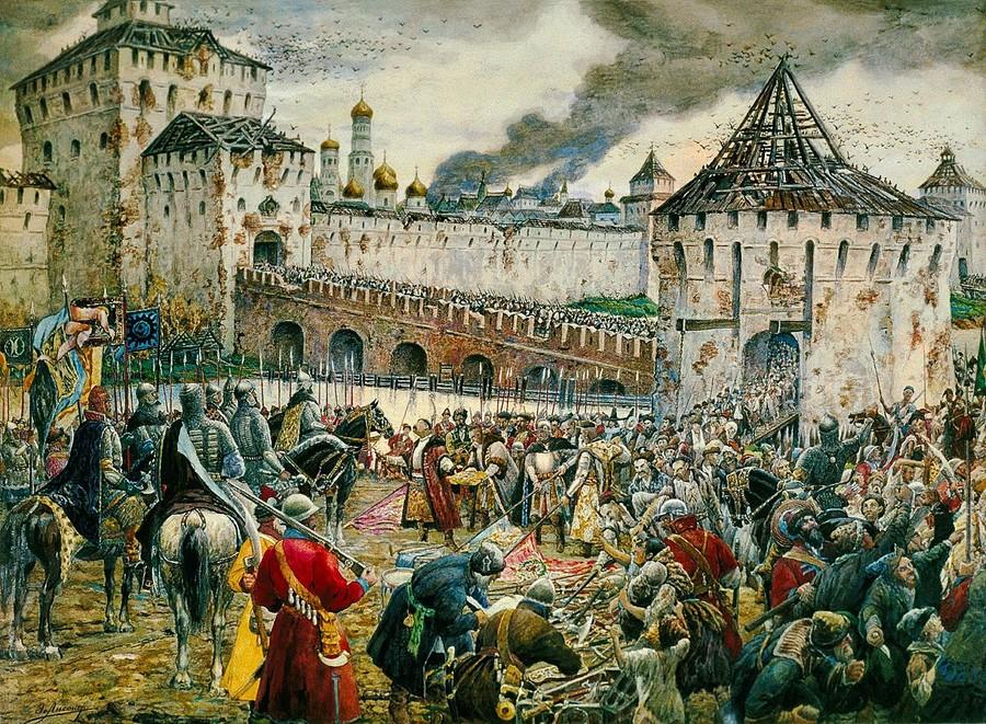 Изгнание поляков из Кремля. Э. Лисснер. Фото © Wikipedia