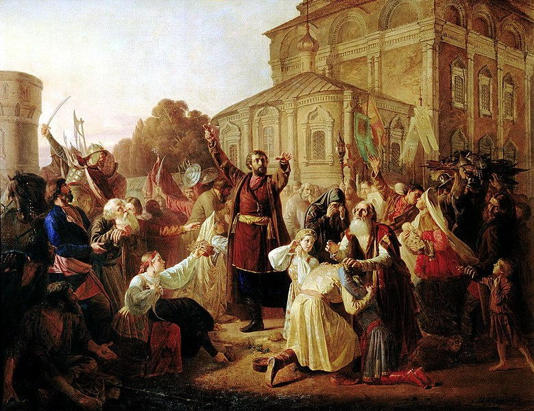 Воззвание Минина к нижегородцам в 1611 году. М.И.Песков. Фото © Wikipedia