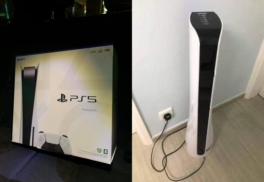 Перекупленная PS5 и настоящий очиститель воздуха, за который муж пытался выдать свою консоль. Фото © Facebook / Jin Wu
