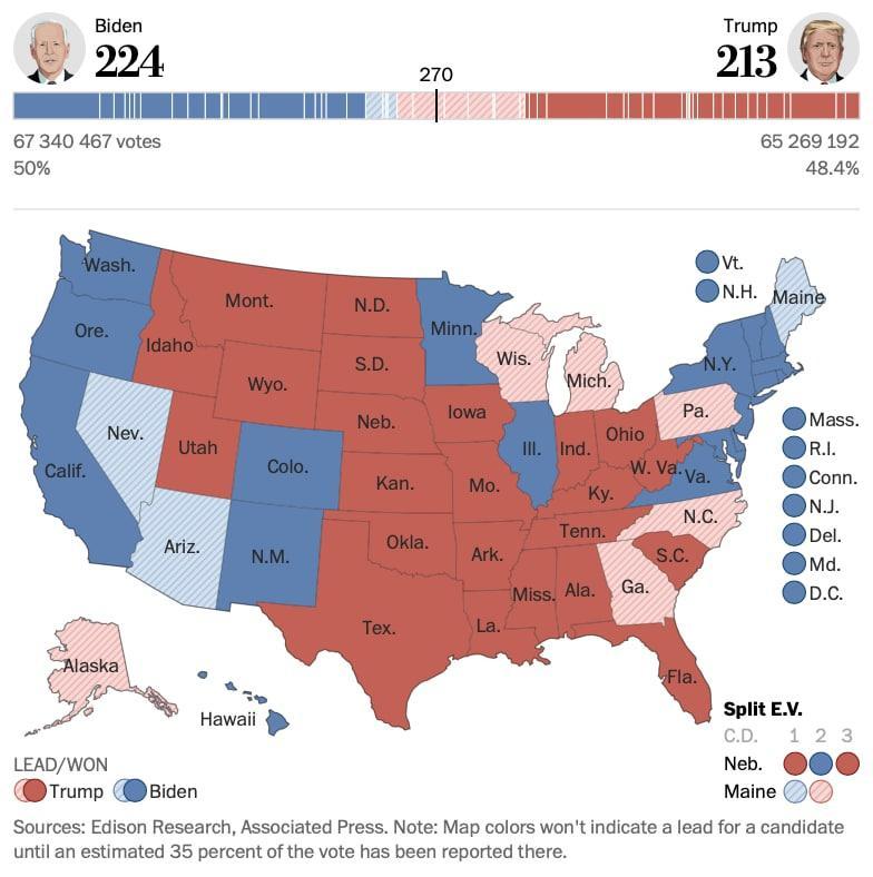 Данные © Washington Post