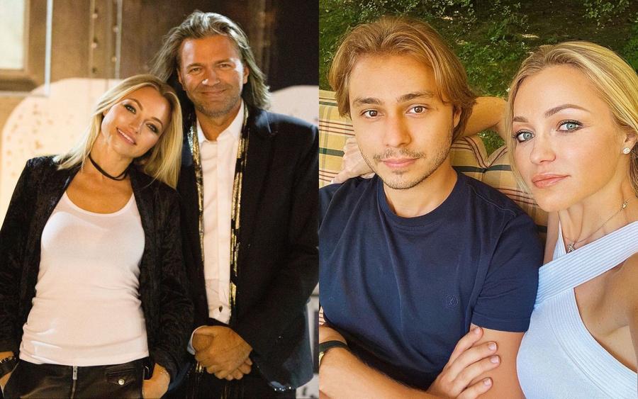 Слева — Инна с братом Дмитрием Маликовым, справа — Инна с сыном Дмитрием. Фото © Instagram / innamalikova