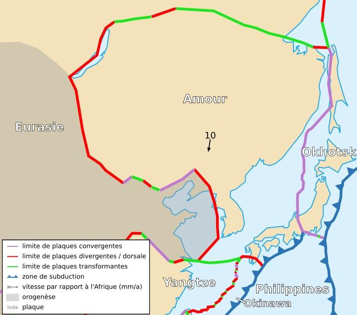 Амурская тектоническая плита. Фото © Википедия