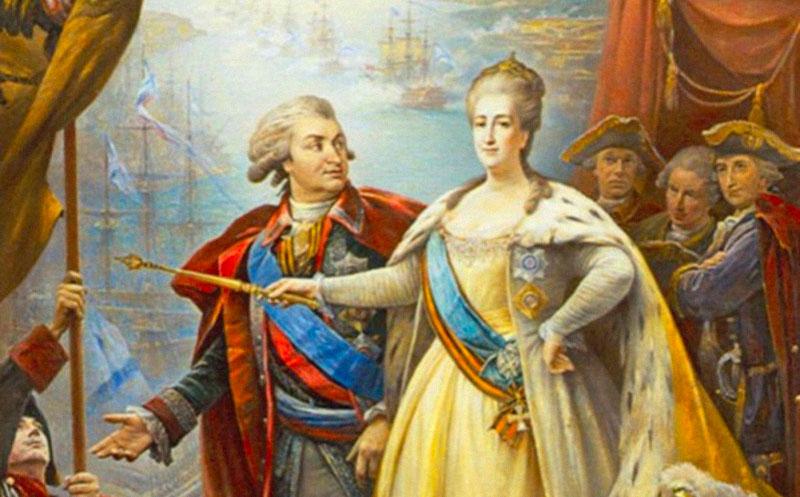 Григорий Потёмкин и Екатерина II. Фото © Wikipedia
