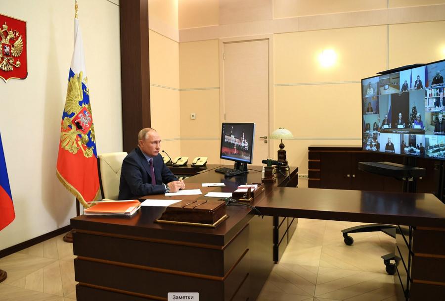 <p>Заседание Совета по развитию гражданского общества и правам человека (в режиме видеоконференции).  </p><p>Фото © Kremlin.ru</p>