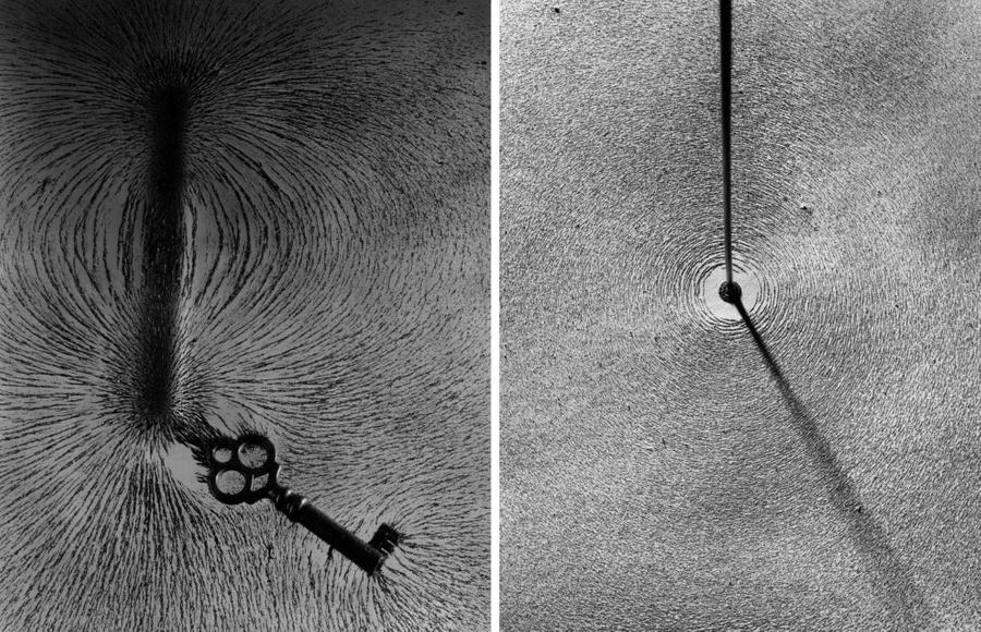 Демонстрация явления магнетизма. Фото © Berenice Abbott