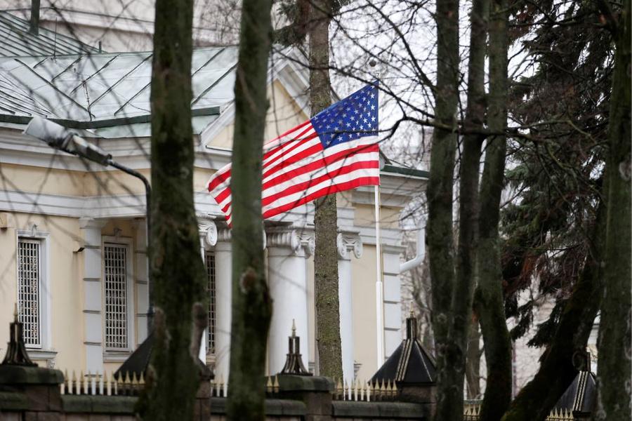 <p>Посольство США в Белоруссии. Фото © ТАСС / Наталия Федосенко</p>