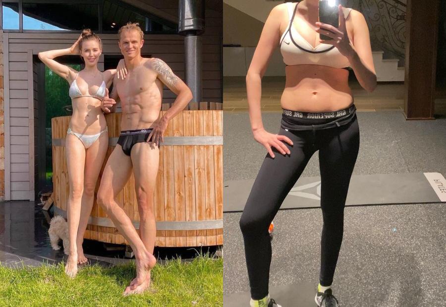 Справа — Анастасия Костенко спустя 1,5 месяца после вторых родов. Фото © Instagram / kostenko.94