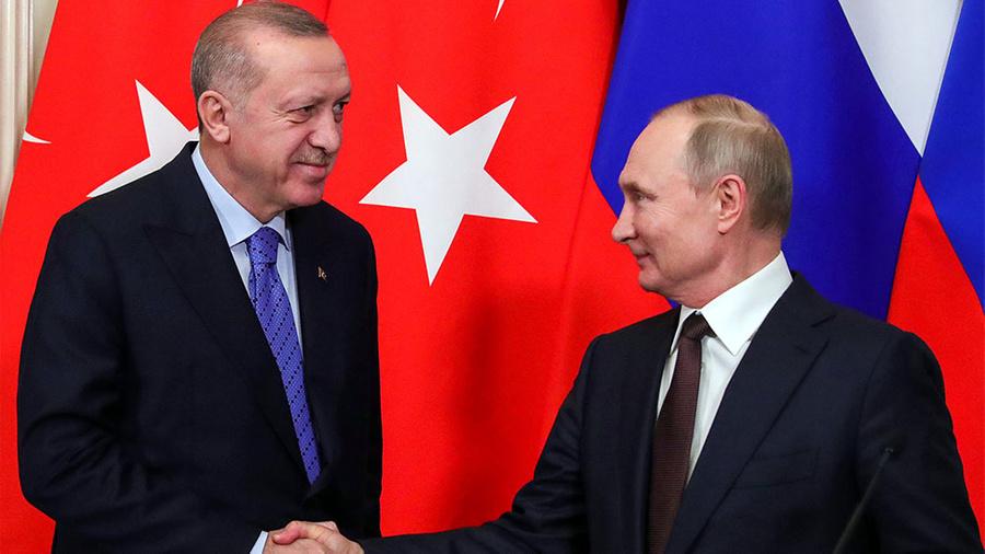 <p>Тайип Эрдоган и Владимир Путин. Фото © ТАСС / Михаил Климентьев / Пресс-служба Президента РФ</p>