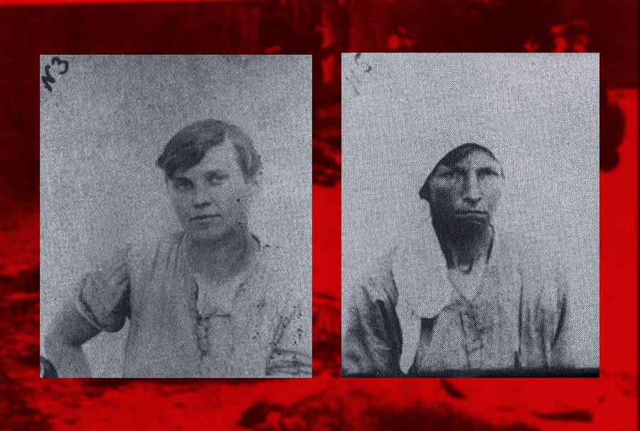 """Женщины-палачи: Варвара Немич (слева) и участница """"Варфоломеевской ночи"""" в Евпатории и расстрелов на """"Румынии"""" (справа). Фото © bashschool2.ru"""