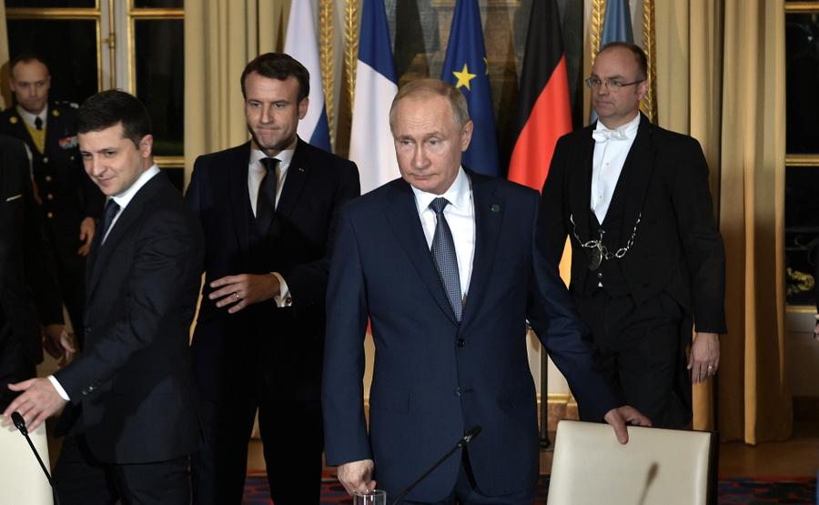 <p>Владимир Путин и Владимир Зеленский. Фото © Kremlin</p>