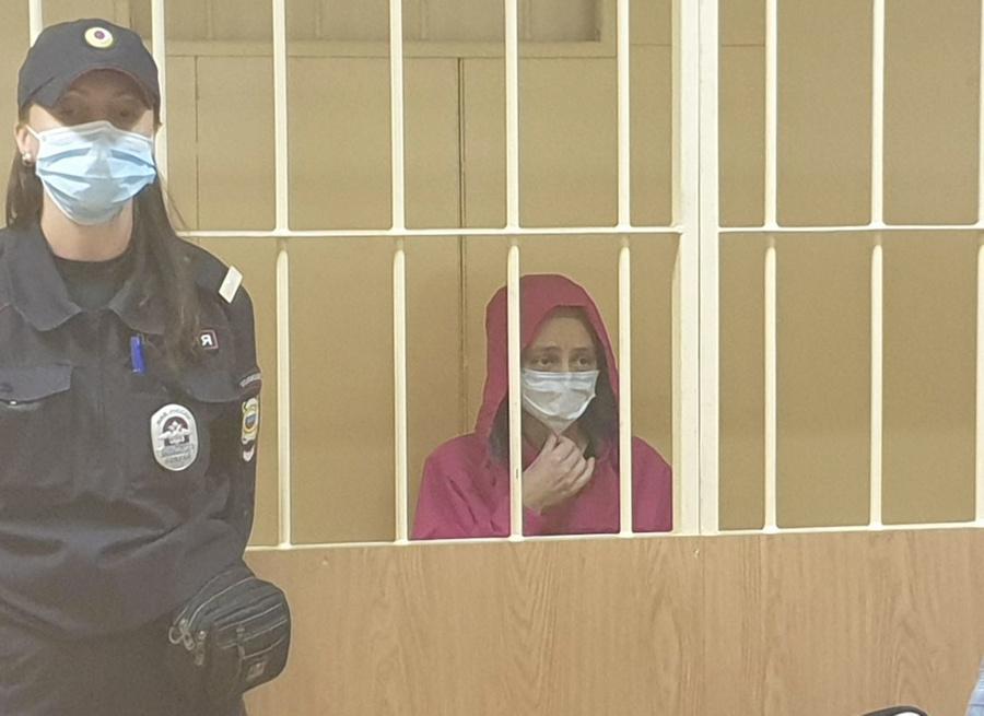 <p>Вдова Энди Картрайта Марина Кохал на заседании суда.</p><p>Фото © Объединённая пресс-служба судов Санкт-Петербурга</p>