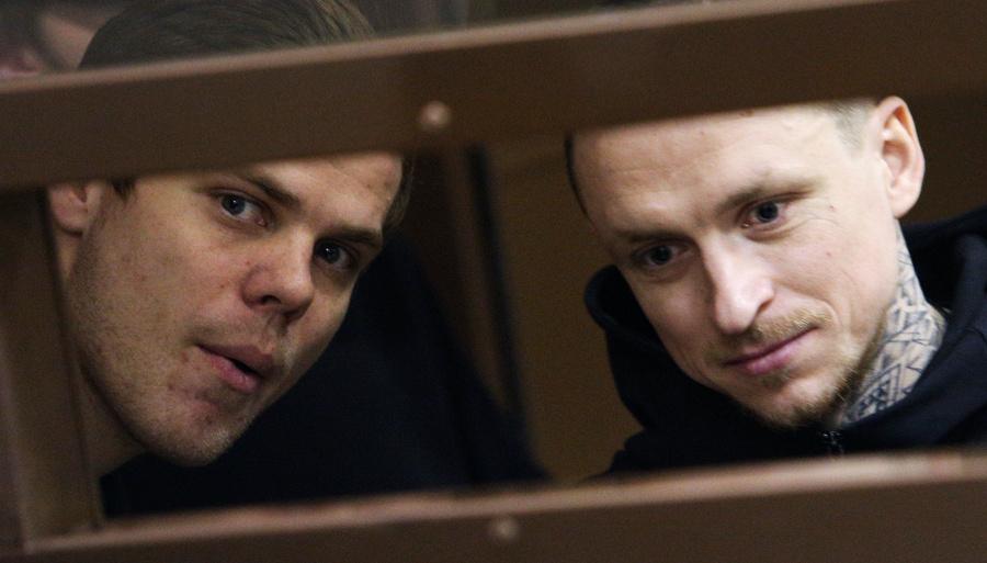 "<p>Александр Кокорин, Павел Мамаев (справа). Фото © Агентство городских новостей ""Москва"" / Кирилл Зыков</p>"