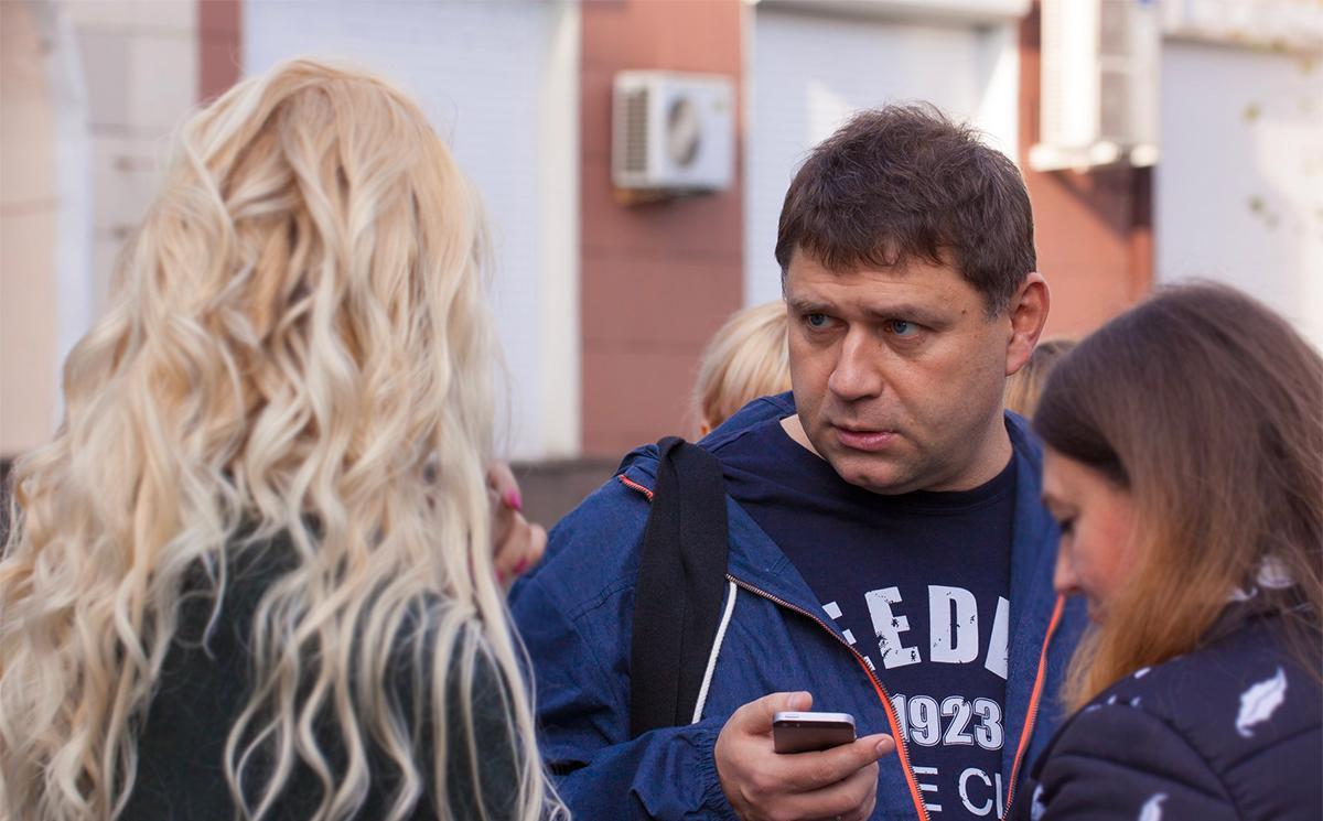 """Сопредседатель профсоюза медработников """"Действие"""" Андрей Коновал. Фото © Facebook / Алексей Денисов"""