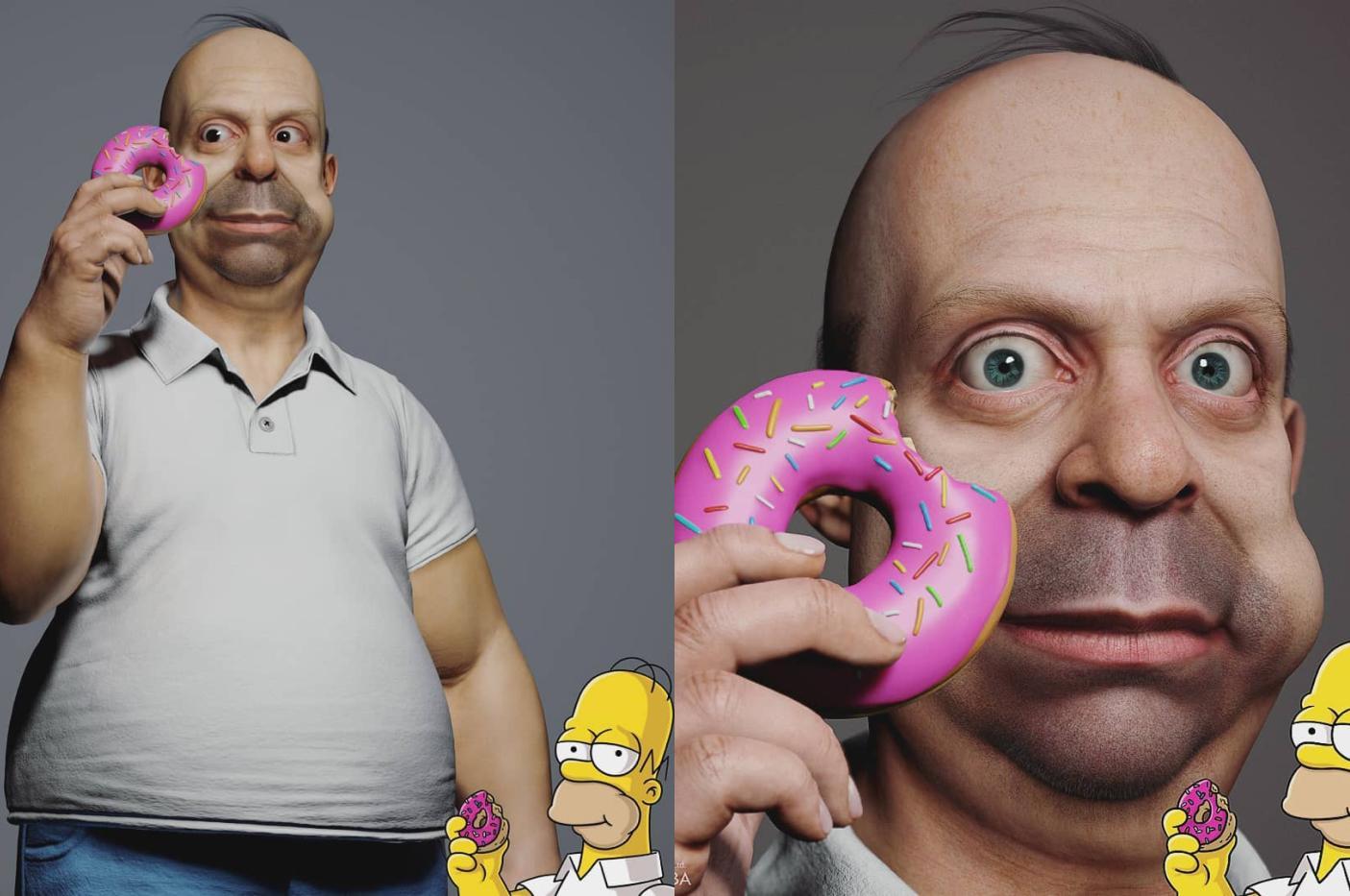 Семью Симпсонов оживили с помощью 3D-моделей, но увиденное хочется забыть как можно быстрее