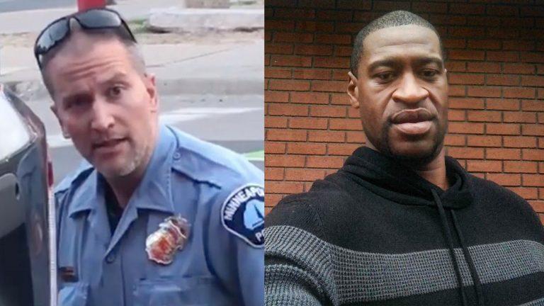 "<p>Бывший полицейский Дерек Шовен (слева) и Джордж Флойд (справа). Фото © Twitter / <a href=""https://twitter.com/PhillyD"" target=""_blank"" rel=""noopener noreferrer"">Philip DeFranco</a></p>"