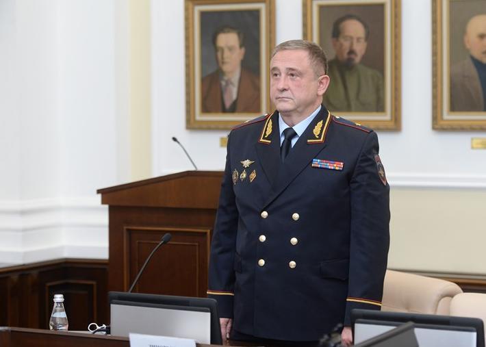 <p>Генерал-майор Игорь Зиновьев </p><p>Фото © Пресс-служба ГУ МВД России по г. Москве</p>