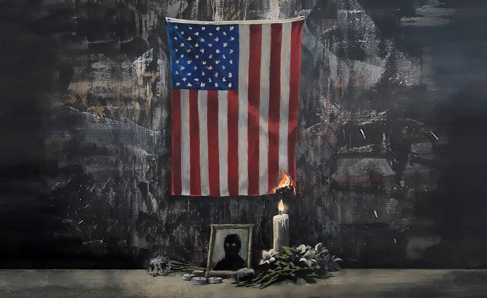 Америка в огне. Бэнкси посвятил новое произведение протестам в США