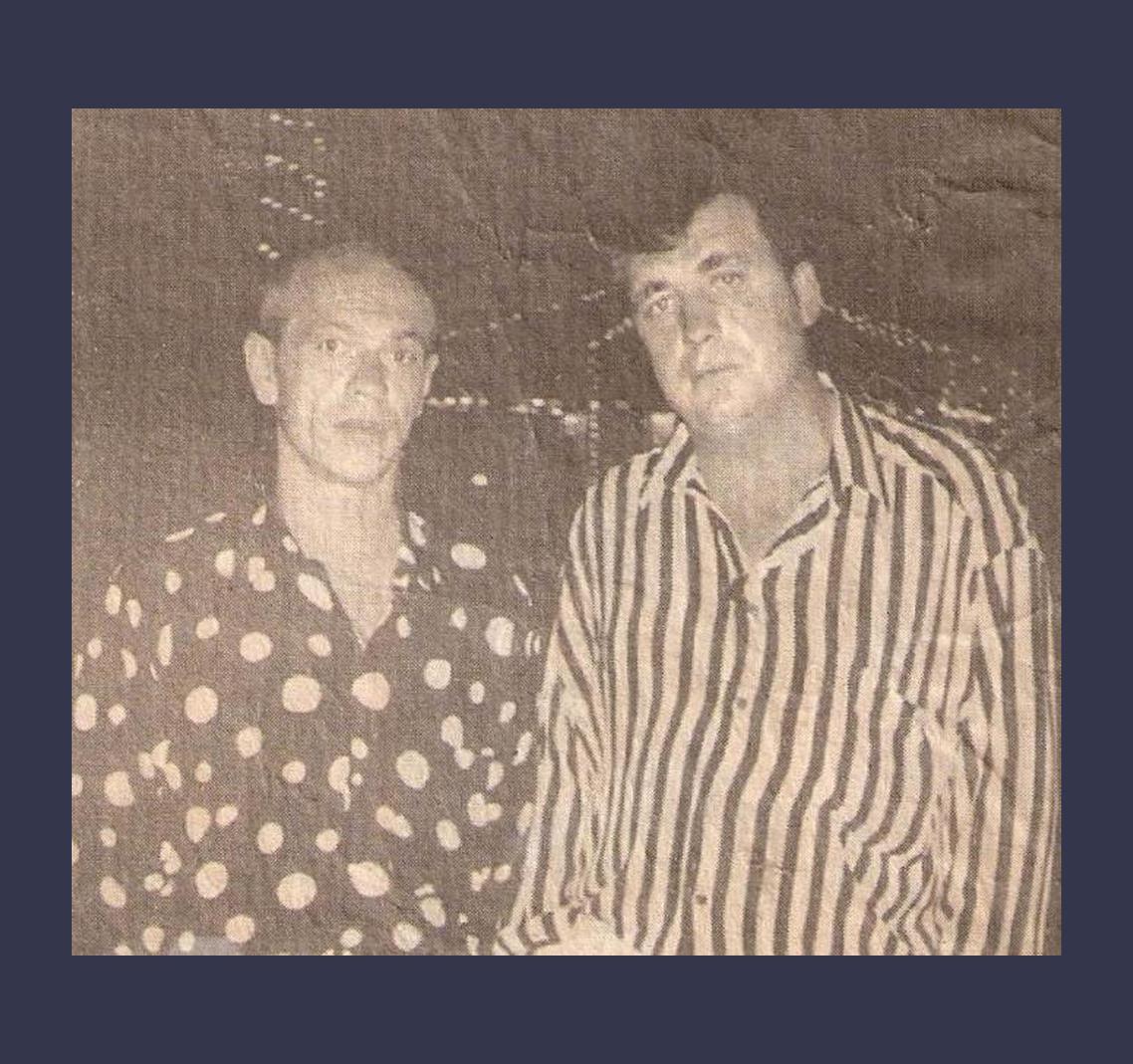 Захар Шурик с Васей Бандитом в Голландии, 1994 год. Фото ©Primecrime.ru