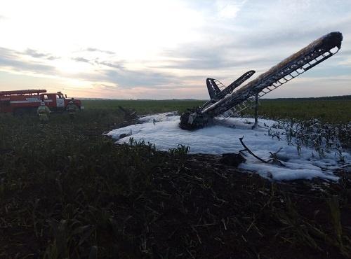 В Нижегородской области упал самолет Ан-2