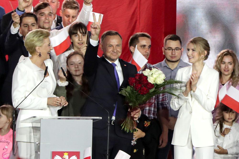Действующий лидер Польши Анджей Дуда переизбран на второй срок