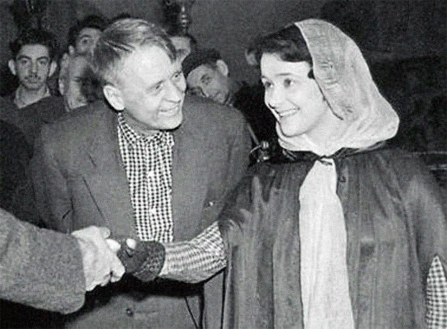 Людмила Марченко и Иван Пырьев. Фото © Public Domain
