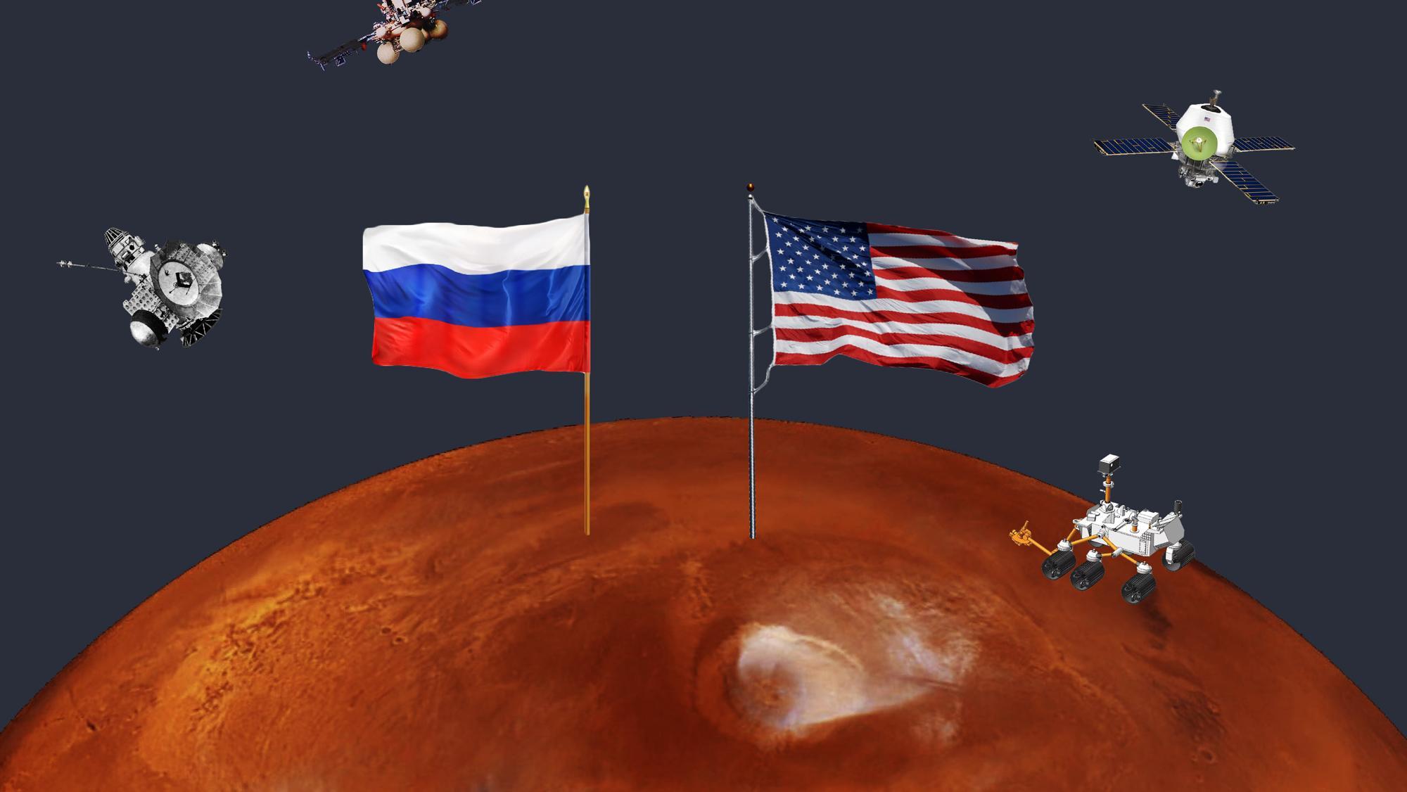 Марсианская гонка длиной в 60 лет. Как русские и американцы пытались покорить Красную планету