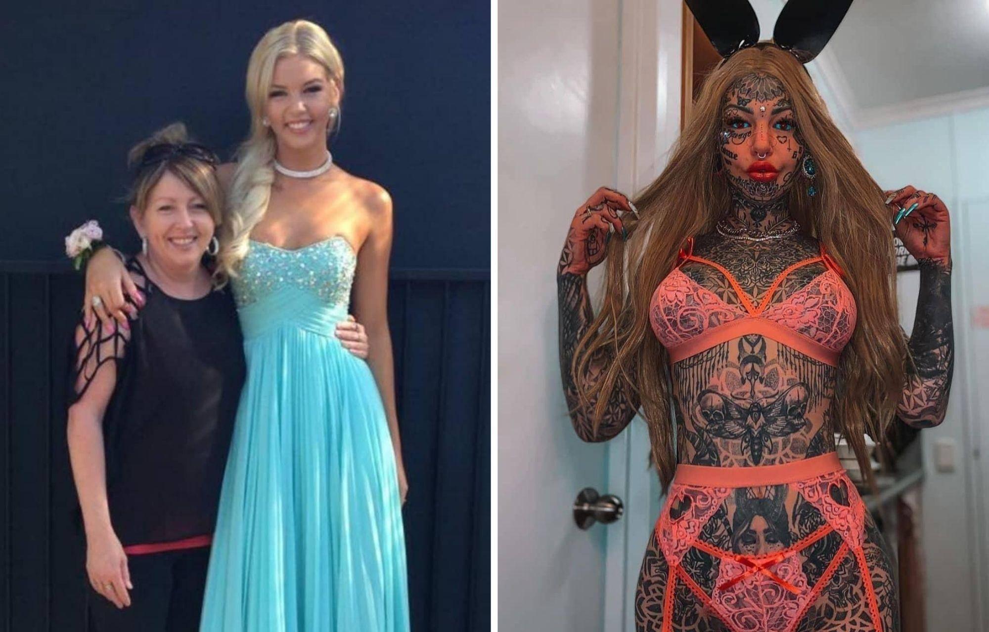 Как выглядят тату-модели, если временно избавить их от рисунков на теле: 12 фото до и после