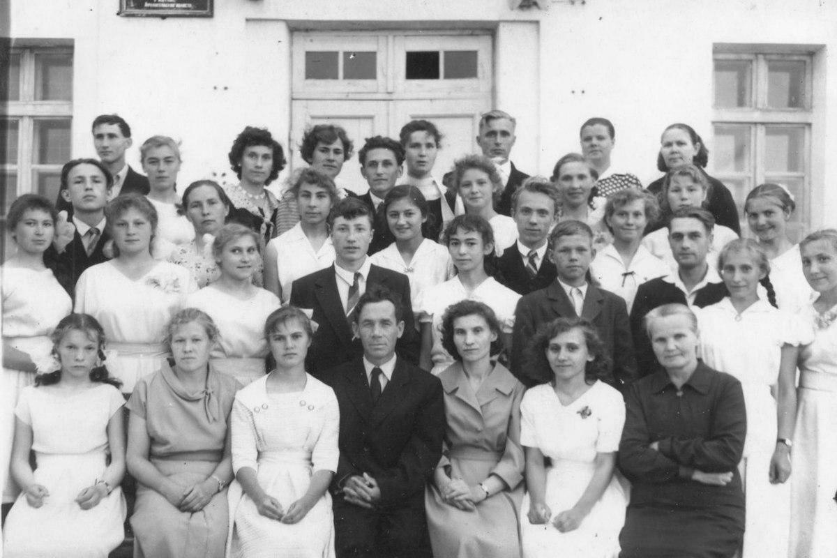 Выпускной, 10 класс, 1961 г. Фото © Учёба